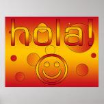 Regalos españoles: Hola/Hola + Cara sonriente Póster