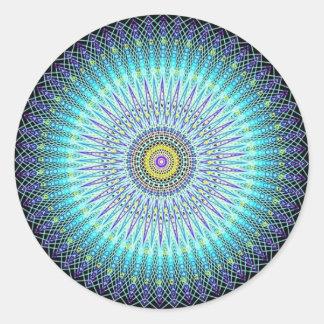 Regalos espirituales de la mandala pegatina redonda