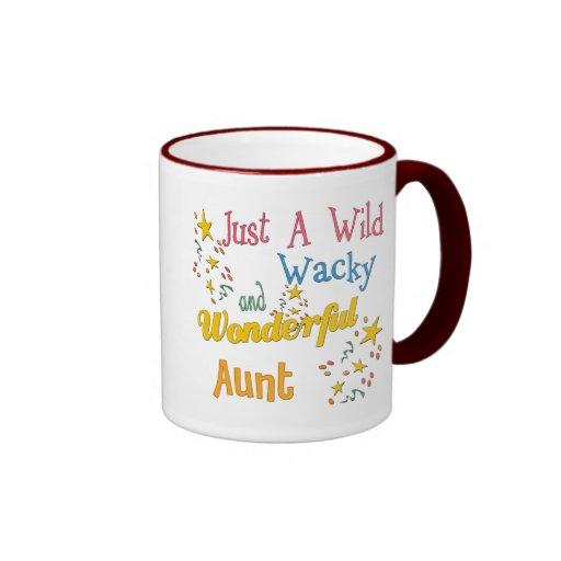 Regalos estupendos para las tías taza de dos colores