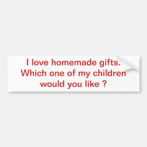 regalos etiqueta de parachoque
