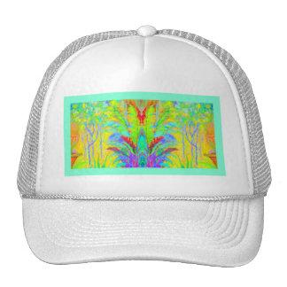 Regalos exóticos tropicales de los jardines por gorros bordados