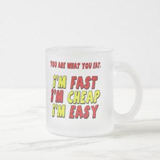 Regalos fáciles baratos rápidos divertidos de las taza cristal mate