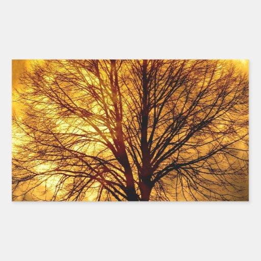Regalos fantasmagóricos del destino del otoño del  rectangular pegatina