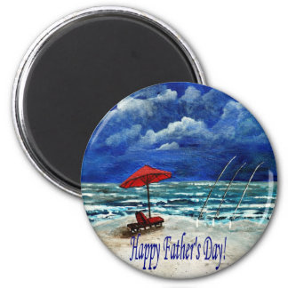 Regalos felices de la pesca del día de padre imanes