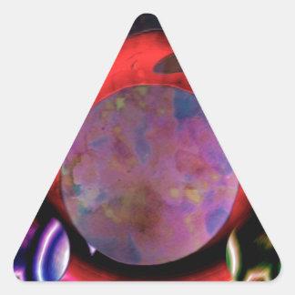 Regalos felices del círculo calcomanías trianguladas