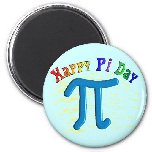 Regalos felices del día del pi, diseño grabado en  imán de frigorifico