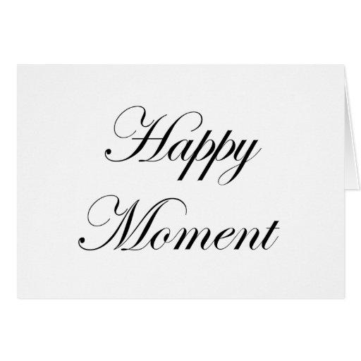Regalos felices del momento tarjeta de felicitación
