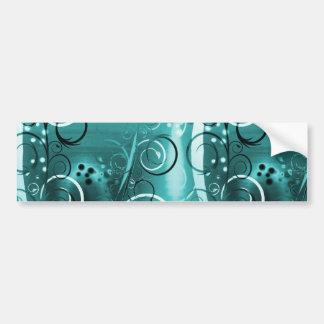 Regalos femeninos azules del remolino de la aguama pegatina de parachoque