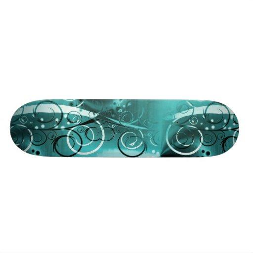 Regalos femeninos azules del remolino de la aguama tablas de skate