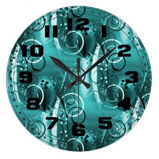 Regalos femeninos azules del remolino de la aguama reloj