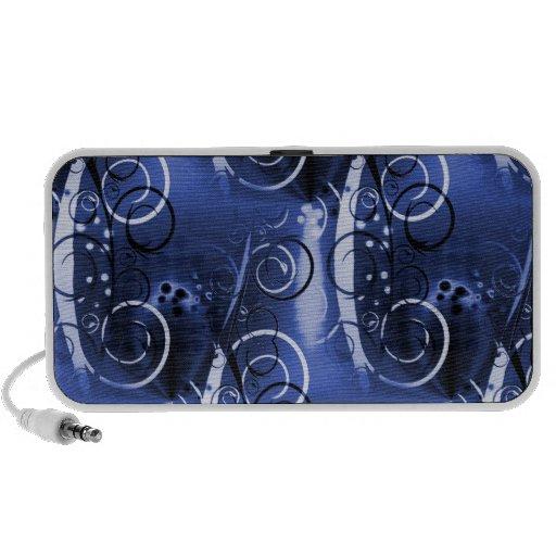 Regalos femeninos de los azules añiles florales ab altavoz