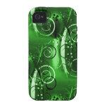 Regalos femeninos del remolino del verde floral ab vibe iPhone 4 fundas