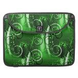 Regalos femeninos del remolino del verde floral ab funda macbook pro