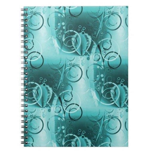 Regalos femeninos descolorados del remolino de las cuadernos