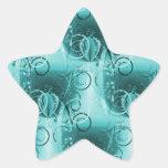 Regalos femeninos descolorados del remolino de las colcomanias forma de estrellaes personalizadas