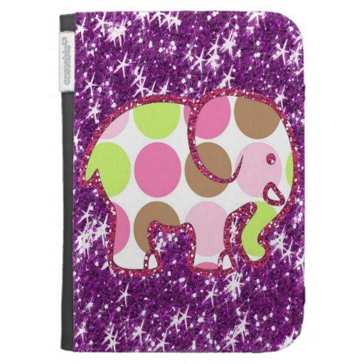 Regalos femeninos púrpuras brillantes del elefante
