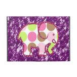 Regalos femeninos púrpuras brillantes del elefante iPad mini carcasa
