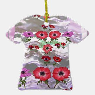 Regalos florales de la flor elegante adorno de cerámica en forma de playera