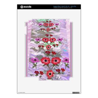 Regalos florales de la flor elegante pegatina skin para iPad 3