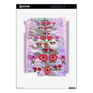 Regalos florales de la flor elegante skins para eliPad 2
