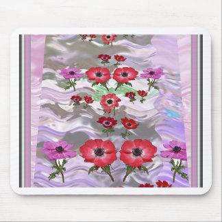 Regalos florales de la flor elegante tapetes de raton