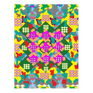 Regalos florales del arte abstracto de la flor postal