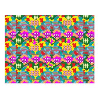 Regalos florales del arte abstracto de la flor tarjeta postal