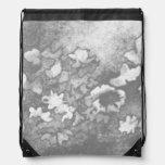 Regalos florales del bonito del blanco gris de la mochilas