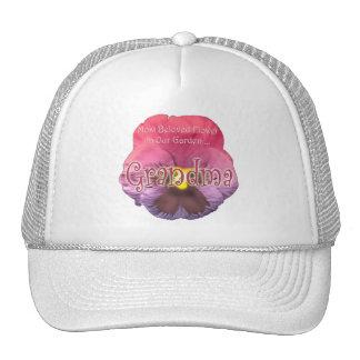 Regalos florales del día de madres de la abuela gorras