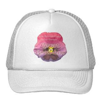 Regalos florales del día de madres de la bisabuela gorras