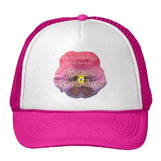Regalos florales del día de madres de la bisabuela gorras de camionero
