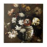 Regalos florales del vintage inspirado azulejo ceramica