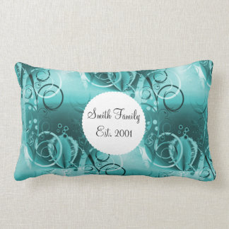 Regalos florales descolorados de las azules turque almohadas
