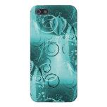 Regalos florales descolorados de las azules turque iPhone 5 fundas