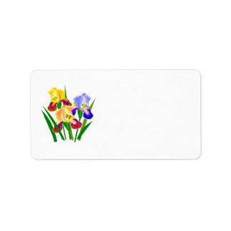 Regalos florales etiqueta de dirección