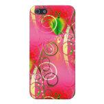 Regalos florales femeninos del verde de las rosas  iPhone 5 carcasa