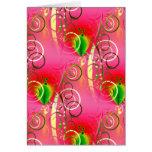 Regalos florales femeninos del verde de las rosas  tarjeta