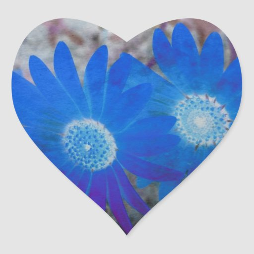 Regalos florales pegatinas de corazon