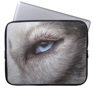 Regalos fornidos de los ojos azules del husky sibe funda portátil