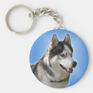 Regalos fornidos del perro del Malamute del husky Llavero Redondo Tipo Pin