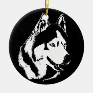 Regalos fornidos del perro del recuerdo del adorno navideño redondo de cerámica