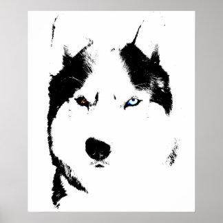 Regalos fornidos del perro esquimal del poster del