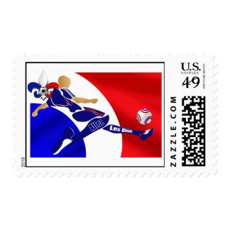 Regalos franceses del voleo del fútbol de los timbres postales