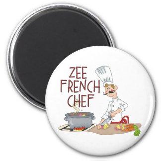 Regalos franceses divertidos del cocinero iman de frigorífico
