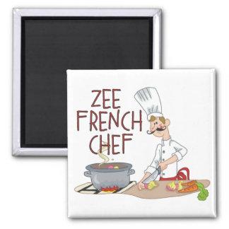 Regalos franceses divertidos del cocinero imanes