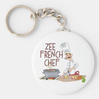 Regalos franceses divertidos del cocinero llaveros