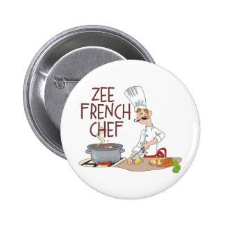 Regalos franceses divertidos del cocinero pins