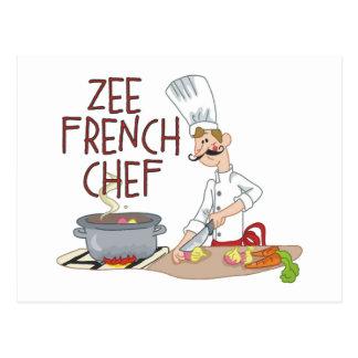 Regalos franceses divertidos del cocinero postal