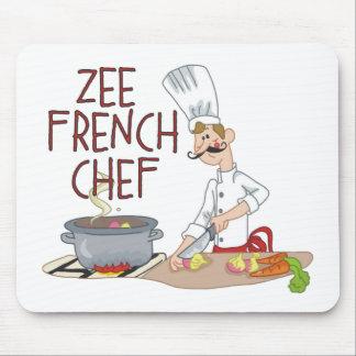 Regalos franceses divertidos del cocinero alfombrillas de ratón