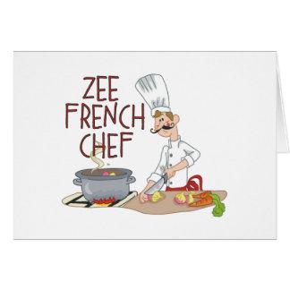 Regalos franceses divertidos del cocinero felicitación